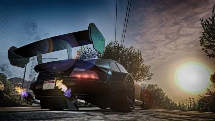 Grand Theft Auto V Sun Rays Car Hd Wallpapers Desktop And Mobile