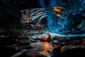 men, Nature, Cave, Water, Iceland, Ice, Lights, Glaciers, Rock, Reflection, Long exposure