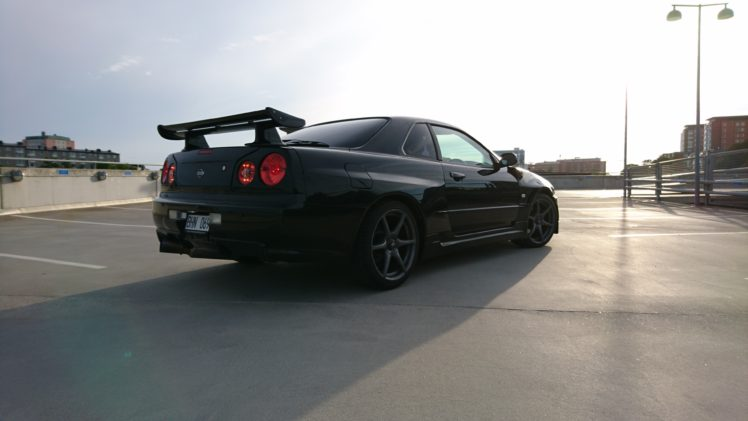 Nissan Skyline Nissan Skyline R34 Nissan Skyline Gt R R34 Black Pearl Hd Wallpapers Desktop And Mobile Images Photos