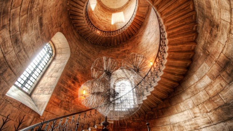 Interior, Sunlight, HDR, Staircase, Tower, Bricks, Window, Ancient,