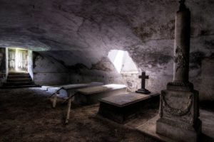 interior, Sunlight, Tomb, Grave, Cross, Abandoned, Stones, HDR, Door, Stairs, Ancient, Wall