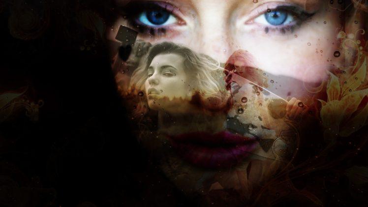 women, Group of women, Face, Eyes, Collage HD Wallpaper Desktop Background