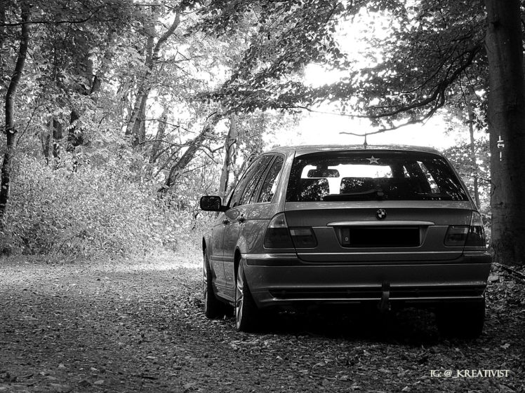 Bmw Bmw E46 Forest Monochrome Hd Wallpapers Desktop And Mobile