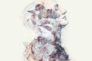 Person, Face, Profile, Closed eyes, Album covers, Drawn, Abstract
