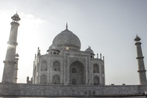 India, Taj Mahal, Sky, Wonder of the world, Islamic architecture