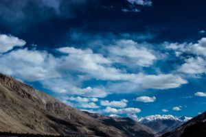sky, Clouds, Mountains