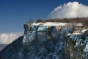 cliff, Nature, Winter, Landscape