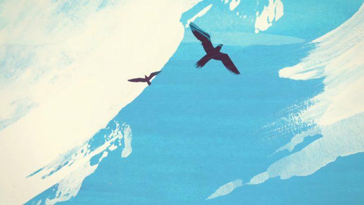 Studio Killers Clouds Birds Sky Bright Blue White Jenny