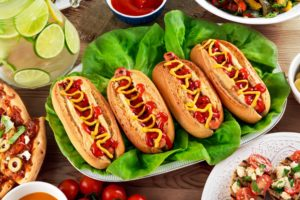 hot dogs, Food