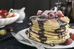 food, Fruit, Berries, Pancakes