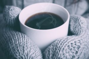 cup, Coffee, Gloves, Mittens