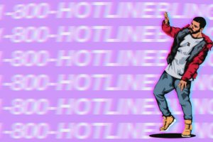 hotline bling, Pink color, Digital art