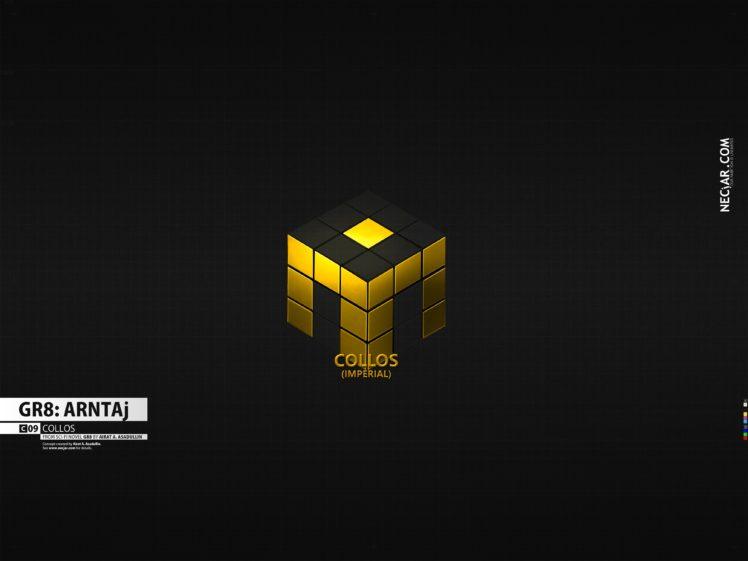 GR8, Logo, Science fiction, Cube HD Wallpaper Desktop Background