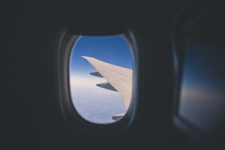 airplane, Window, Sky HD Wallpaper Desktop Background