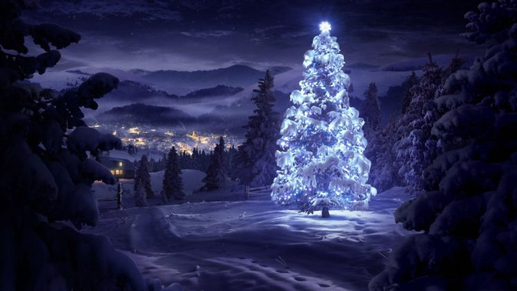 night, Christmas HD Wallpaper Desktop Background