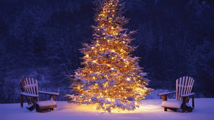 night, Christmas HD Wallpaper Desktop Background