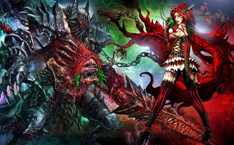 Little Red Riding Hood, Soul Sacrifice, Apples, Video games, Chains, Artwork HD Wallpaper Desktop Background