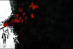 suicide, Butterfly, Pistol