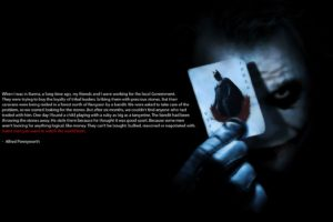 Joker, Black background, Movies, Quote, Batman