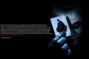 Joker, Black background, Movies, Quote, Batman