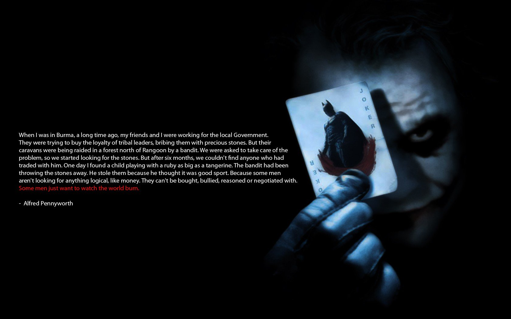 Joker Black Background Movies Quote Batman Hd Wallpapers Desktop And Mobile Images Photos