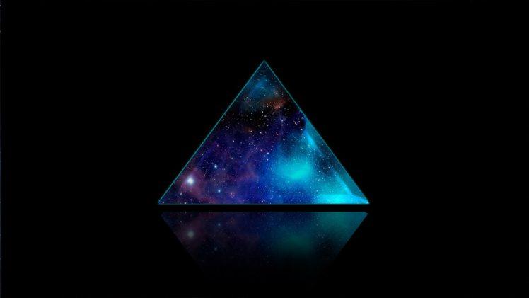 space, Triangle, Galaxy, Backgound, Digital art HD Wallpaper Desktop Background