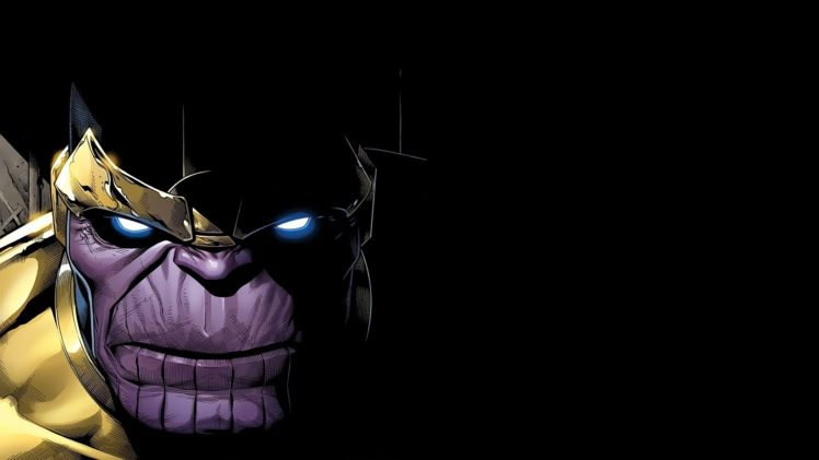 Thanos, Marvel Comics, Villains, Artwork HD Wallpaper Desktop Background
