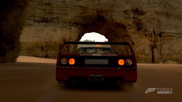 forza horizon 3, Video games, Ferrari F40 HD Wallpaper Desktop Background