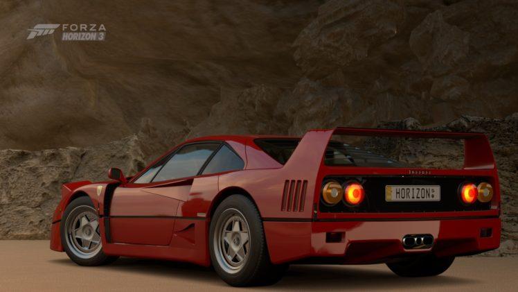forza horizon 3, Video games, Ferrari F40 HD Wallpapers