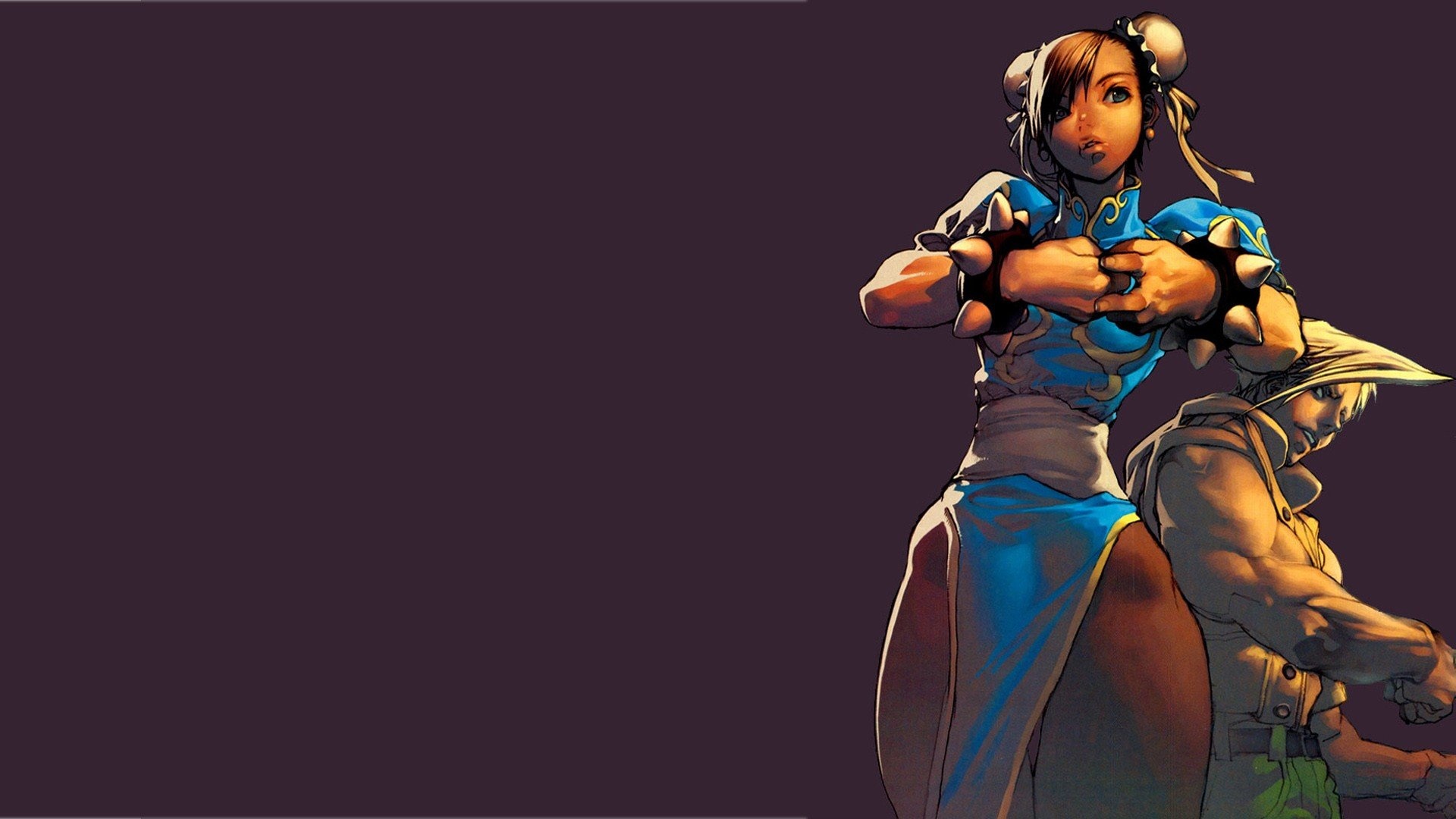 Chun Li Guile Street Fighter Illustration Purple Background Hd
