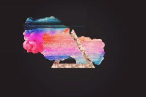 glitch art, Vaporwave, Abstract
