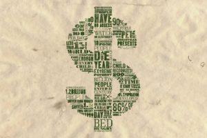 typography, Text, Infographics, Dollars