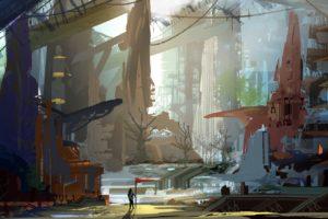 landscape, Fantasy art, Futuristic