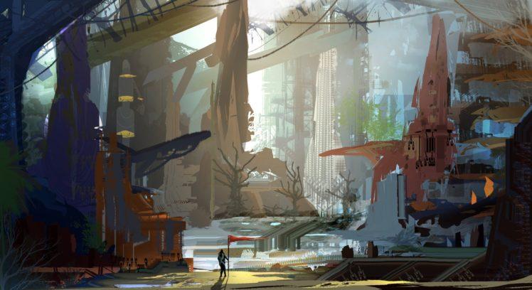 landscape, Fantasy art, Futuristic HD Wallpaper Desktop Background