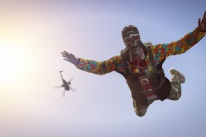 Grand Theft Auto V, Grand Theft Auto, Grand Theft Auto Online, Helicopters, Parachutes, Rockstar Games, Freefall