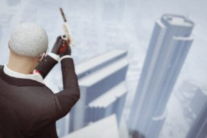 Grand Theft Auto V, Grand Theft Auto Online, Rockstar Games, Hitman, Building, Skycrapers, Gun, Smoking, Headsets