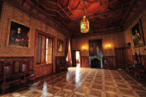 interior, Room, Indoors, Painting, Wooden surface, Ancient, Door, Chandeliers, Castle, Crimea, Chair