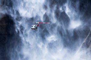 Yosemite Falls, Helicopters, Waterfall