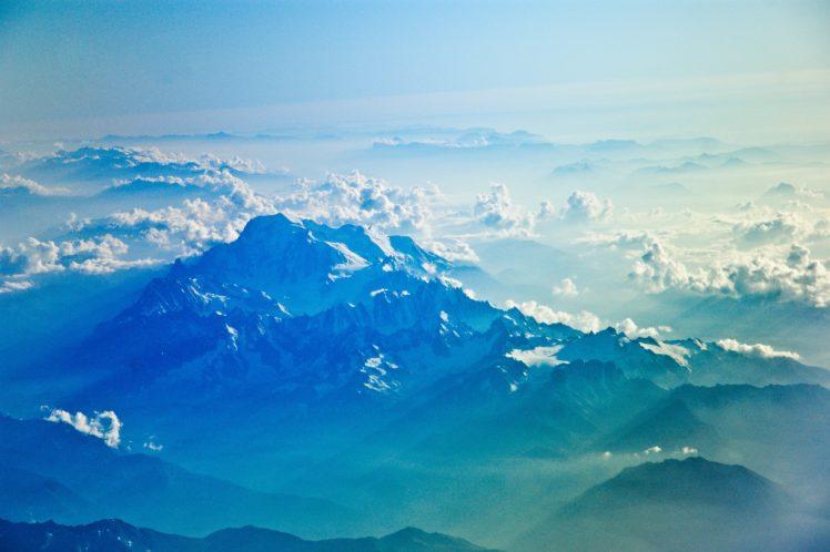 nature, Snow, Mountains, Clouds, Landscape HD Wallpaper Desktop Background