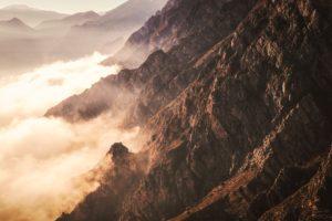 nature, Rock, Clouds