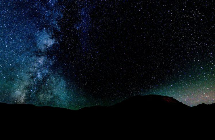 nature, Stars, Galaxy, Mountains HD Wallpaper Desktop Background