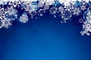 vector, Snowflakes, Blue background, Blue