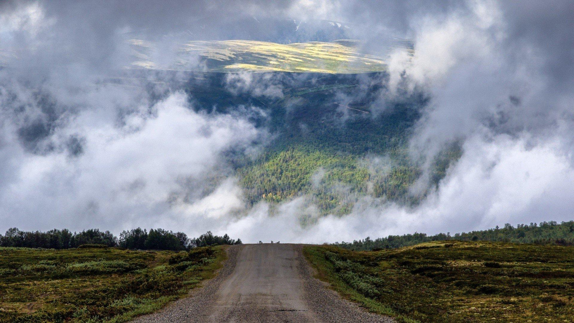Scottish Highlands, Scotland, Nature, Landscape, Road Wallpaper