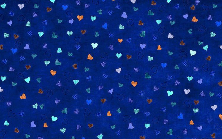 Heart Digital Art Pattern Blue Background Minimalism Checkered Hd Wallpapers Desktop And Mobile Images Photos
