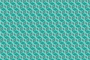 digital art, Pattern, Blue background, Minimalism, 3D, Cube, Geometry, Diamonds, Shapes