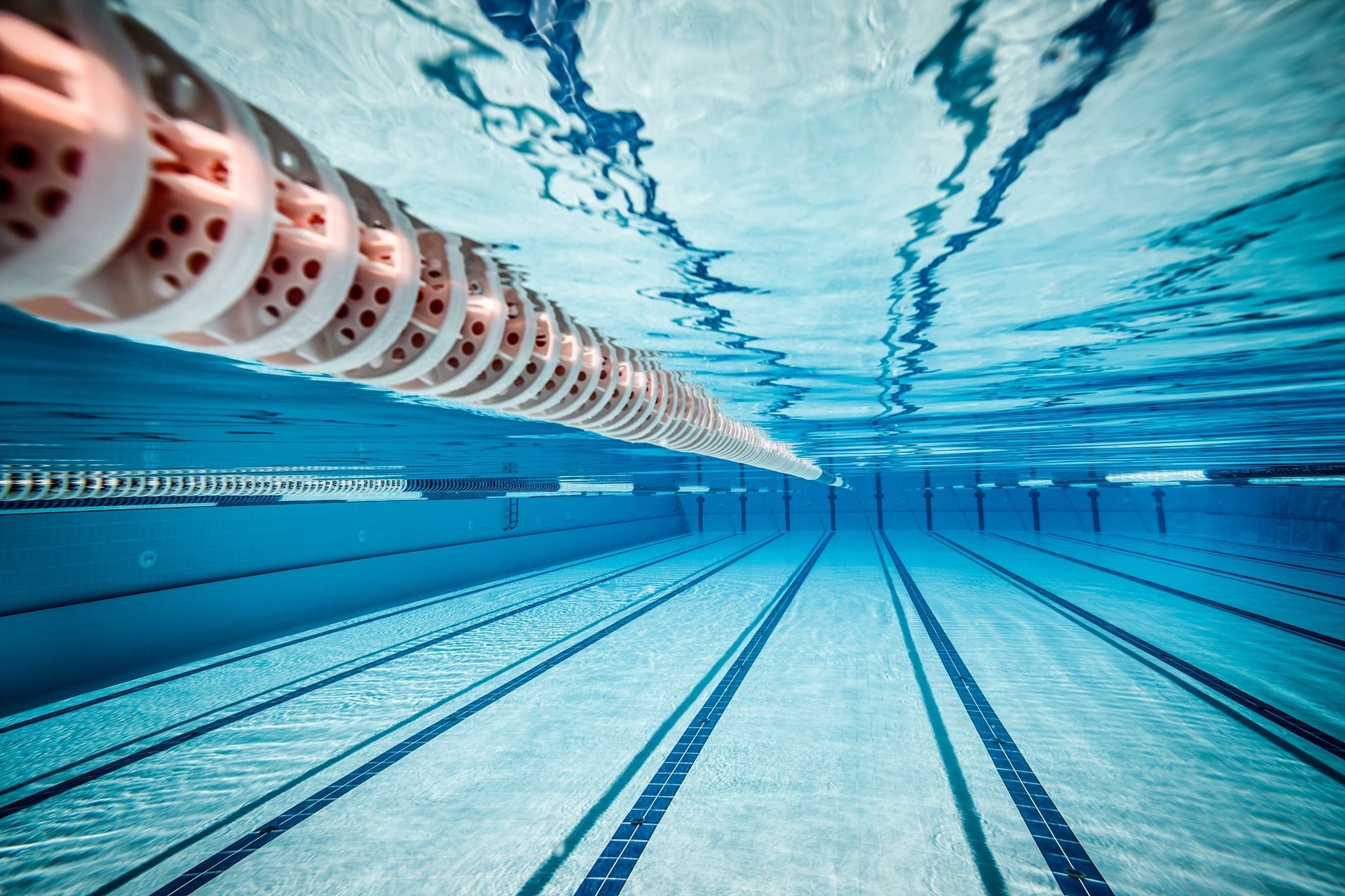 Water Underwater Swimming Pool Sports Swimming Tiles Lines Reflection Hd Wallpapers Desktop And Mobile Images Photos
