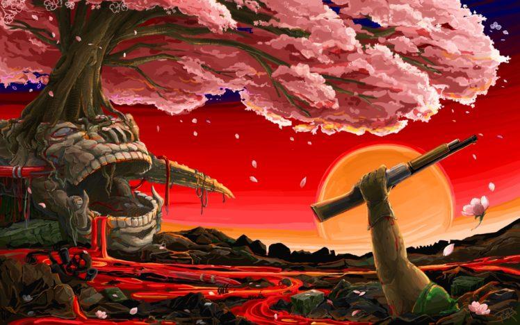 Doom (game), Shotgun HD Wallpaper Desktop Background