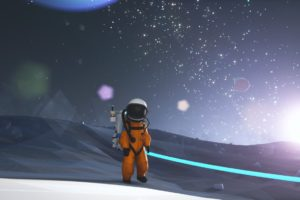 astronaut, Astroneer, Space, Lens flare