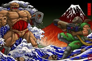 Doom (game), Shotgun, The Great Wave off Kanagawa