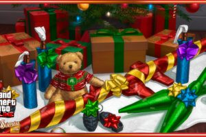 Grand Theft Auto V, Grand Theft Auto Online, Rockstar Games, Holiday, Christmas ornaments, Teddy bears, Weapon